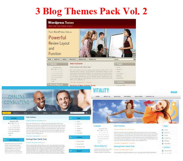 3 Blogs Themes Pack Vol. 2