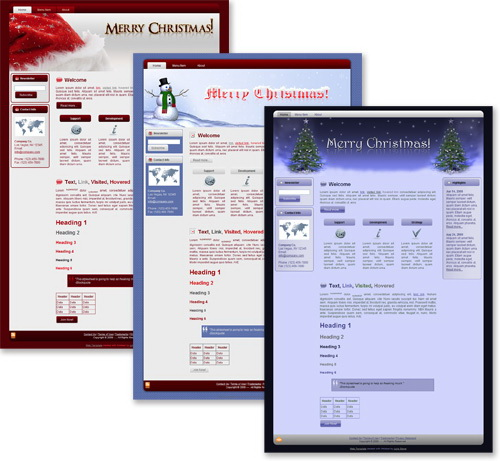 3 Merry Christmas Templates Package (Blogger, WordPress & HTML)