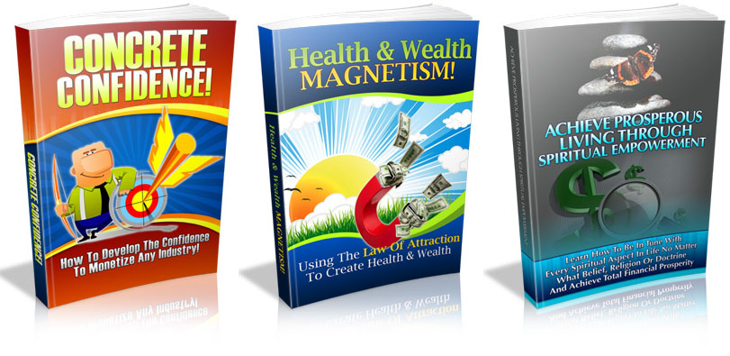 3 PLR eBook - Concrete Confidence, Health & Wealth Magnetism, Ac