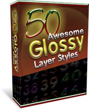 50 Awesome Glossy Layer Styles