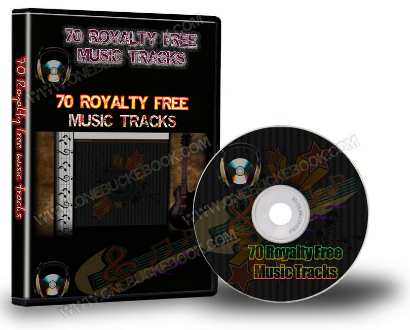 70 Royalty Free Music Tracks Package