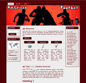American Football HTML Wordpress Blogger Theme #130401