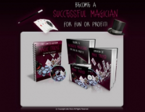 Magic Tricks Template with 2 PLR eBook & 1 Audio Book