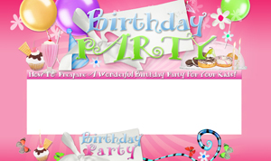 Birthday Party HTML Minisite Template