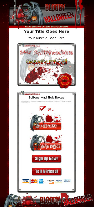 Bloody Halloween HTML Template