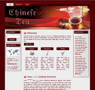 Chinese Tea HTML WP Blogger Theme #130504