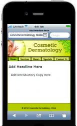 Cosmetic Derm Mobile Site Template