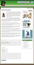 Dog Training Blog Theme (Wordpress)