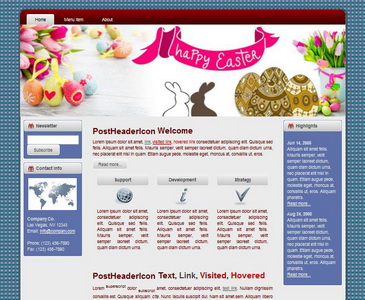 Easter HTML WP Blogger Theme #130504