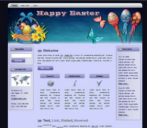 Easter WP HTML Blogger Themes 130301