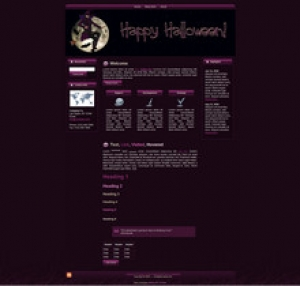 Halloween Witch Template Package