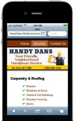Handy Mobile Site Template