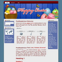 Happy Easter HTML WP Blogger Themes #130301