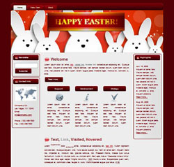 Happy Easter HTML WP Blogger Themes #130308