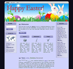 Happy Easter HTML WP Blogger Themes #130309