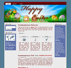 Happy Easter HTML WP Blogger Themes #130310