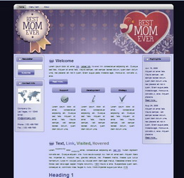 Mother's Day HTML WP Blogger Theme #130502