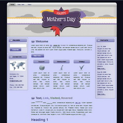 Mother's Day HTML WP Blogger Theme #130504