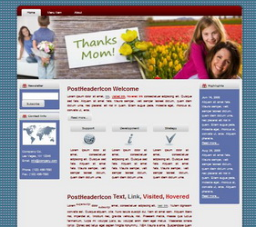 Mother's Day HTML WP Blogger Theme #130507