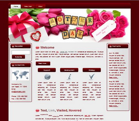 Mother's Day HTML WP Blogger Theme #130508