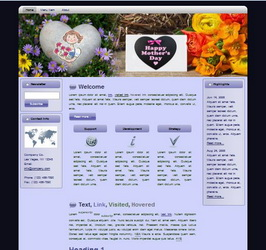 Mother's Day HTML WP Blogger Theme #130510