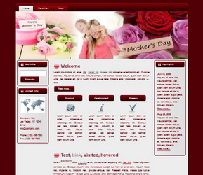 Mother's Day HTML WP Blogger Theme #130511