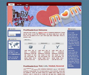 Mother's Day HTML WP Blogger Theme #130512