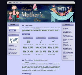 Mother's Day HTML WP Blogger Theme #130513