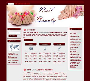 Nail Beauty HTML Wordpress Blogger Theme #130401