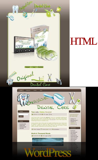 Natural Dental Care HTML & WordPress Themes