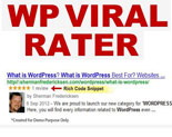 Wordpress Viral Rater Plugin