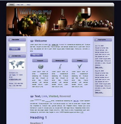 Winery HTML Wordpress Blogger Theme #130401
