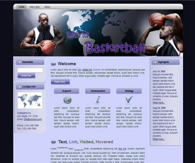 World Basketball HTML Wordpress Blogger Theme #130401