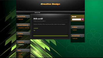 Wordpress Theme Black Green Arrow