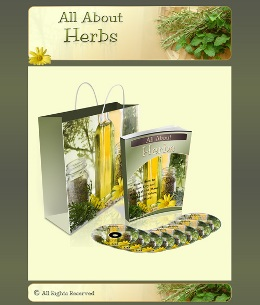 All About Herbs Minisite Design