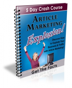 Article Marketing Explosion 5 Day Course
