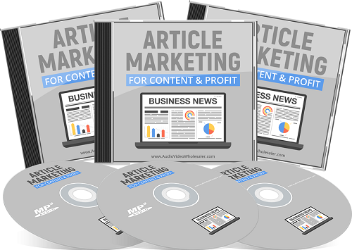 Article Marketing For Content & Profit ( Audios )