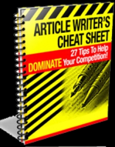 Article Writer's Cheat Sheet