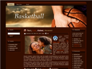Basketball HTML WP BLOGGER Template