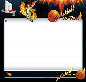 Basketball On Fire HTML Template