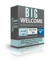 Big Welcome Wordpress Plugin