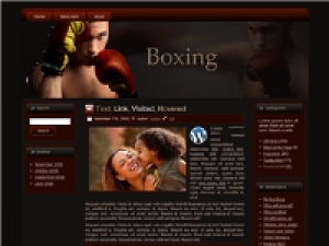 Boxing HTML WP BLOGGER Template