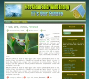 Free Clean Solar Wind Energy Template