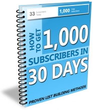 How to Get 1000 Subscribers in 30 Days