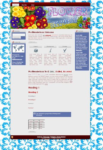 HTML WP Blogger Themes Flower Delivery