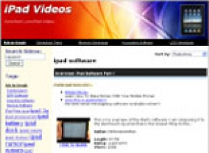 iPad Video Site