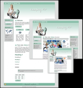 Keeping Fit 3 HTML WP BLOGGER Template