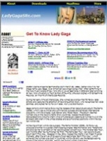 Lady Gaga Website - PLR