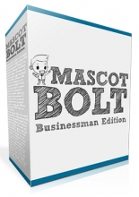 Mascot Bolt Businessman