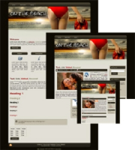 On The Beach HTML WP BLOGGER Template 01
